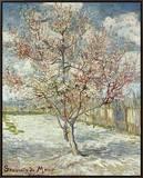 Bluehende Pfirsichbaeume (Souvenir De Mauve), 1888 Framed Canvas Print by Vincent van Gogh