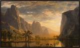 Valley of the Yosemite Framed Canvas Print by Albert Bierstadt