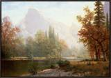 Half Dome, Yosemite Framed Canvas Print by Albert Bierstadt