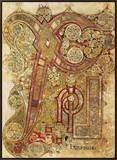 Book of Kells Framed Canvas Print