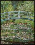 Japanische Bruecke, 1899 Framed Canvas Print by Claude Monet