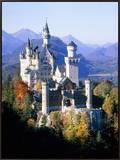 Neuschwanstein Castle in autumn, Bavaria, Germany Framed Canvas Print by Herbert Spichtinger