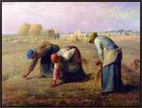 The Gleaners, 1857 Framed Canvas Print by Jean-François Millet