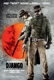 Django Unchained (Jamie Foxx, Christoph Waltz, Quentin Tarantino) Movie Poster Reproduction image originale