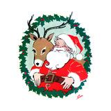 Ho Ho Ho! - Jack & Jill Giclee Print by Ann Eshner