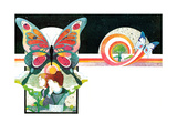 The Butterflies of Eden - Child Life Giclee Print by Len Ebert