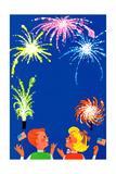 Enchanted Sky - Jack & Jill Giclee Print by Betsy Bates