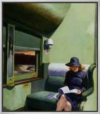 Compartment C, Car 293 Framed Canvas Print by Edward Hopper