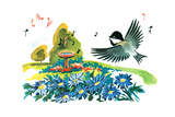 Chick-A-Dee-Dee-Dee - Jack & Jill Giclee Print by Florence McCurdy