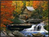 Glade Creek Grist Mill Framed Canvas Print by Robert Glusic