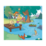 Lake Days - Jack & Jill Giclee Print by Bob Ostrom