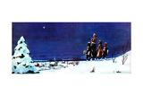 One Snowy Christmas - Jack & Jill Giclee Print by Leonard Vosburgh