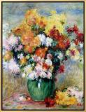 Bouquet of Chrysanthemums, circa 1884 Framed Canvas Print by Pierre-Auguste Renoir