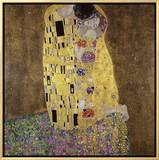 The Kiss Framed Canvas Print by Gustav Klimt