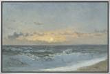 Sunset over the Sea, 1900 (Oil on Board) Framed Canvas Print by William Pye