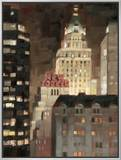 Manhattan Illuminated Framed Canvas Print by Paulo Romero