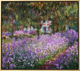 The Artist's Garden at Giverny, 1900 Framed Canvas Print by Claude Monet
