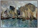 View of Le Havre, 1873 Framed Canvas Print by Claude Monet