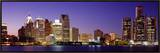 Dusk Detroit, Michigan, USA Framed Canvas Print by  Panoramic Images
