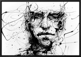 Lines Hold The Memories Framed Canvas Print by Agnes Cecile