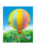 Hot Air Balloon - Humpty Dumpty Giclee Print by Paul Sharpe