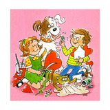 The Red and White Box - Jack & Jill Giclee Print by Jackie Lacy