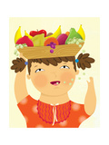Girl with Fruit - Playmate Giclee Print by Sheree Boyd