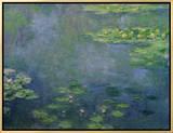 Ninfeas Reproducción en lienzo enmarcado por Claude Monet