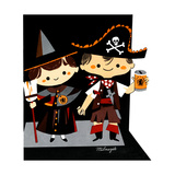 Halloween Friends - Jack & Jill Giclee Print by Bob Milnazik