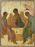 Holy Trinity Framed Canvas Print by Andrei Rublev