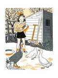 Barnyard Babies - Jack & Jill Giclee Print