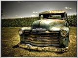 Chevy Truck Framed Canvas Print by Stephen Arens