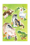 Baby Animal Puzzles - Jack & Jill Giclee Print by Irma Wilde