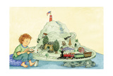 Choo Choo Fun - Turtle Giclee Print by Marsha Winborn