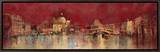 Venice at Night Framed Canvas Print by  Kemp