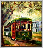 New Orleans St Charles Streetcar Framed Canvas Print by Diane Millsap