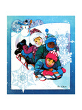 Winter Fun - Jack & Jill Giclee Print by Len Ebert