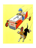 Matchbox Race - Jack & Jill Giclee Print by Iris Beatty Johnson
