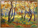 Edge of the Forest Framed Canvas Print by Paul Ranson