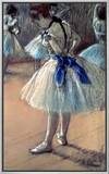 Dancer Framed Canvas Print by Edgar Degas