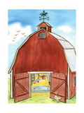 The Barn - Jack & Jill Giclee Print by Phyllis Harris