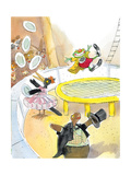 Ted, Ed. Caroll and the Trampoline - Turtle Giclee Print by Valeri Gorbachev