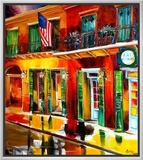 Outside Pat O Briens Bar Framed Canvas Print by Diane Millsap