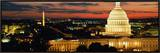 City Lit Up at Dusk, Washington D.C., USA Framed Canvas Print by  Panoramic Images