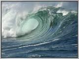 Shorebreak Waves in Waimea Bay Framed Canvas Print by Rick Doyle