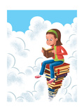 Books - Jack & Jill Giclee Print by Eric Sturdevant