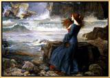 Miranda, the Tempest, 1916 Framed Canvas Print by John William Waterhouse
