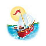 Sail Away! - Humpty Dumpty Giclee Print by Elisa Chavarri