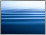 Small Gentle Ripples Move Across the Calm Surface of the Arctic Ocean Framed Canvas Print by Norbert Rosing