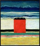Red House, 1932 Framed Canvas Print by Kasimir Malevich